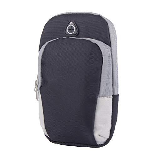 Acessórios de corrida 1 peça à prova d'água bolsa de braço esportiva elegante para telefone Arnband grande bolsa de braço de exercício respirável bolsa de braço de corrida para uso fitness escalada (preta)