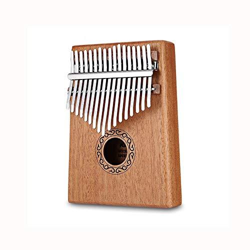 ZXCHB Daumenklavier Spieluhr Holz Mahagoni Korpus Musikinstrument mit Lernbuch Tune Hammer for Anfänger