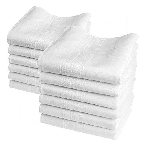 "12 pañuelos blancos - Modelo ""Valentin"" - 40 centimetros"