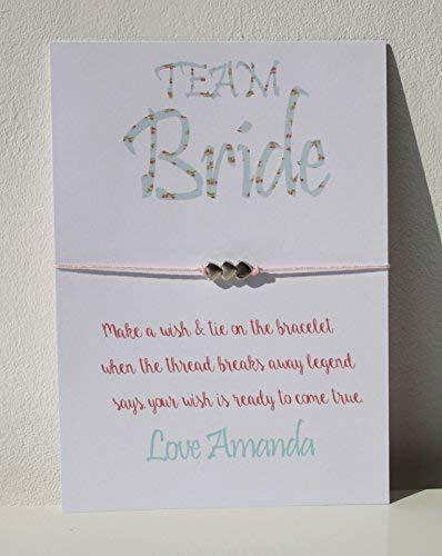 Personalised Bride Tribe Wedding Wish Bracelet Friendship Hen Party Favour - Team Bride D3 (20)