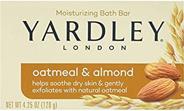 Yardley Oatmeal and Almond Bar Soap, 4.25 Oz. 20 Bars