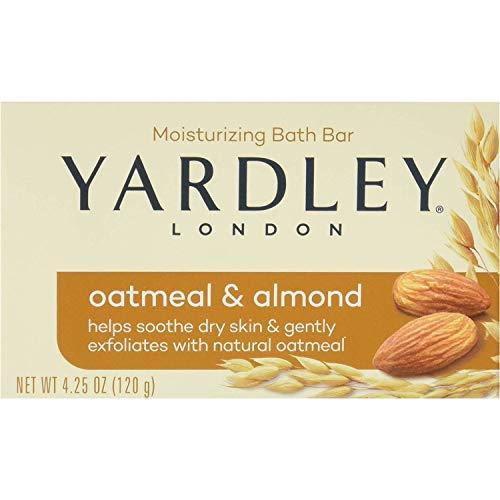 Yardley London Hydratante Bar flocons d'avoine et d'amandes avec avoine naturelle 4,25 oz (Lot de 2)