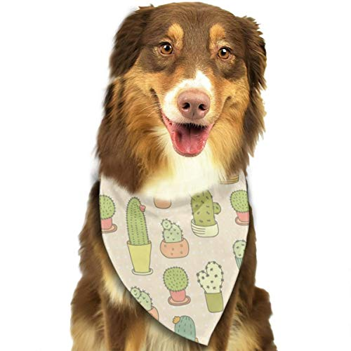 AKLID Cute Cactus Bonsai Dog Bandana Collars Triangle Neckerchief Bibs Scarfs Accessories Pet Cats and Baby Puppies Saliva Towel