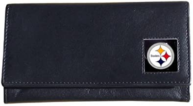 NFL Siskiyou Sports Womens Pittsburgh Steelers Leather Women's Wallet One Size Black