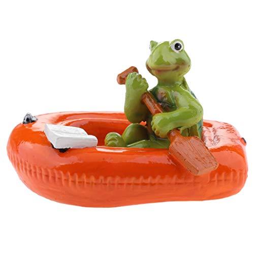 D DOLITY Schildkröte auf Blatt Schwimmtier Grten Teich Deko, Schildkröte in verschiedenen Bildung - 6# rote Boot Schildkröte