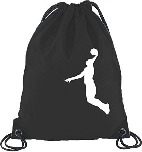 Shirtstreet24, BASKETBALL PLAYER, NBA Sport Turnbeutel Rucksack Sport Beutel, Größe: onesize,Schwarz