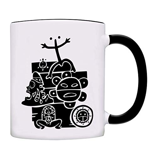 Puerto Rico All Taino Symbols in One Coffee Mug-0155-Black
