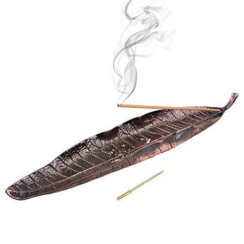 [TEMLUM] 香立 線香立て 香台 横置きお香立 おしゃれな香炉 多機能 金属製お香立て プレゼント向け 受け皿一体型お香立て 携帯便利 香針/特製袋付き 瞑想 睡眠