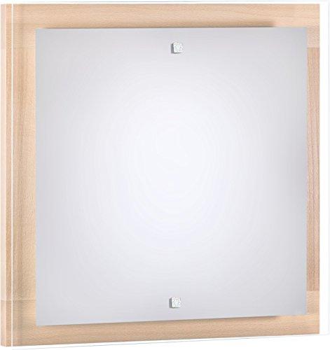 Wandleuchte Holz Buche 4x E27 bis 60 Watt 230V Holz Glas Wandlampe Bauhaus Wohnzimmer Beleuchtung...