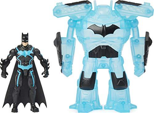 DC Comics, Personaggio Batman Bat-Tech Deluxe da 10 cm con armatura trasformabile, per bambini dai 4 anni in su