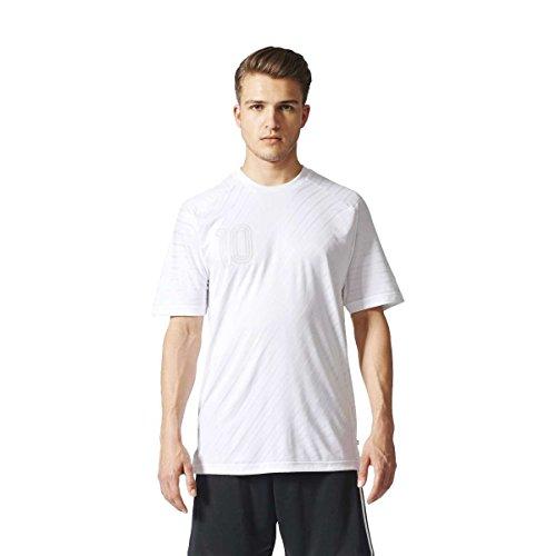 adidas Herren Tango Player Icon Climalite Trikot, Weiß, 2XL