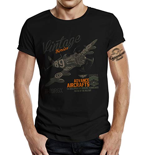 T-Shirt für Airborne Racing US-Airforce Fans: Vintage Air 4XL