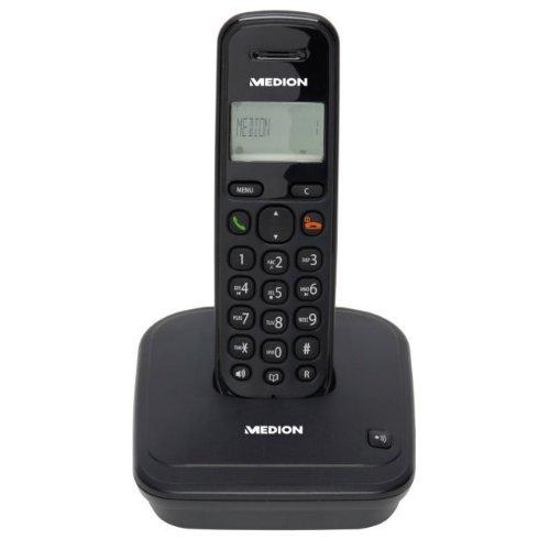 Medion Life Dect Schnurloses Telefon mit Anrufbeantworter schwarz