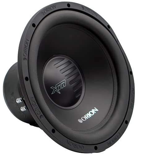 Orion XTR Subwoofer DVC 4 OHM Max Music Power Watts Subwoofer Black Speaker Car Stereo Bass Woofers (XTR154D, 15 Inch – DVC 4 OHM)