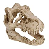 ZGPTX Peces Jugando Cueva Dinosaurio cráneo Adorno de Resina Artificial Creativo Acuario Tanque decoración Accesorios para Mascotas
