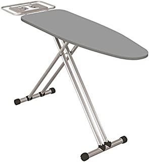 Econat Adjustable Foot Caps Adjustable Height Extra Wide Ironing Board in Grey