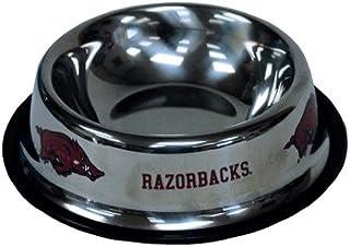 NCAA Arkansas Razorbacks Pet Bowl, Small, Multicolor