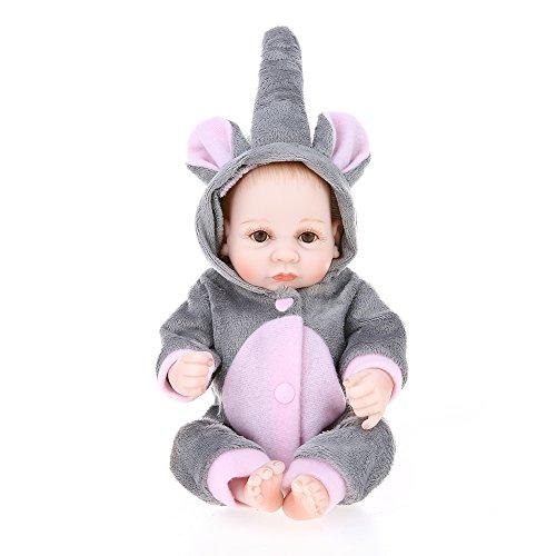Decdeal Reborn Bambino Bambola Silicone 10inch 25cm Principessa Bagno Giocattolo con Vestiti Realistici Regali Giocattolo