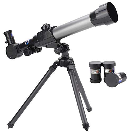 Amusingtao Telescopio per Bambini, Bambini Telescopio Astronomico, Astronomico Orizzontale Telescopio con Treppiedi, 3 Ingrandimento Oculari (20X,30X,40X), Education Giocattoli per Bambini
