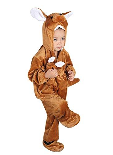 F53 tamaño de 2-3 años de disfraces canguro para el bebé y niños pequeños, cómodo de llevar en la ropa normales