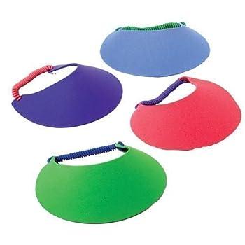 U.S Toy 7  Foam Visors  Assorted Colors   2-Pack of 12