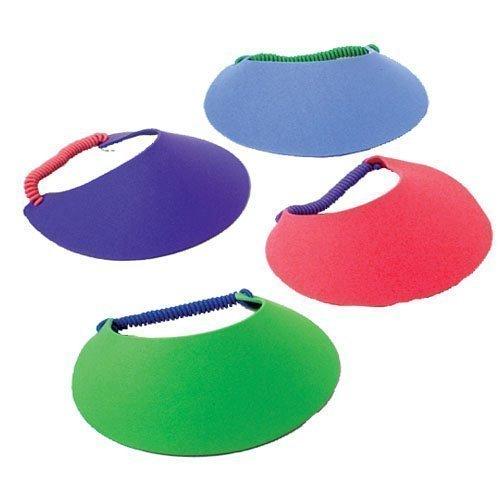 U.S. Toy 7' Foam Visors (Assorted Colors) (2-Pack of 12)
