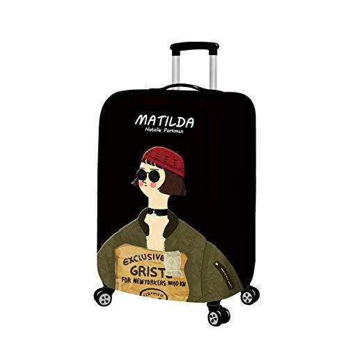 Maleta Estuche protector Cubierta de polvo Impresión Personalidad Dibujos animados Niño Niña Más grueso A prueba de polvo Elástico Viajar Caja de la carretilla Funda de maleta B-M(22-24 Inch)
