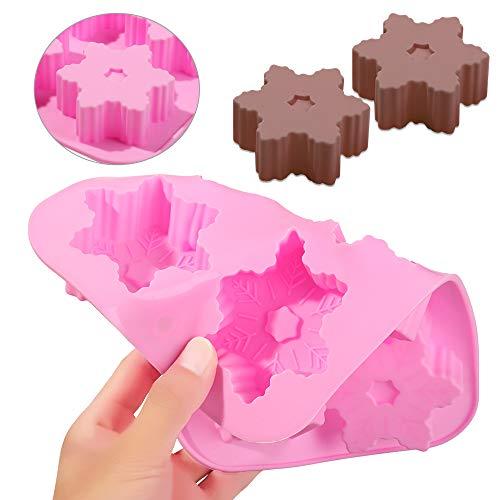Silikonform für Seife, Eiswürfelform, Schneeflocke, Schokolade, Kuchenherstellung, 1 Stück, zufällige Farbe