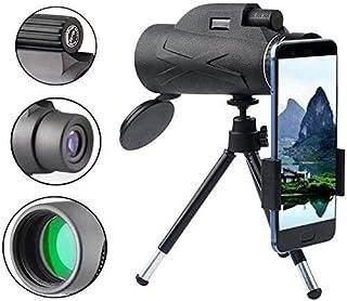 80x100 High Definition Monocular Telescope with Aluminum Alloy Telescopic Bracket Set 18MM Eyepiece Night Vision Waterproo...