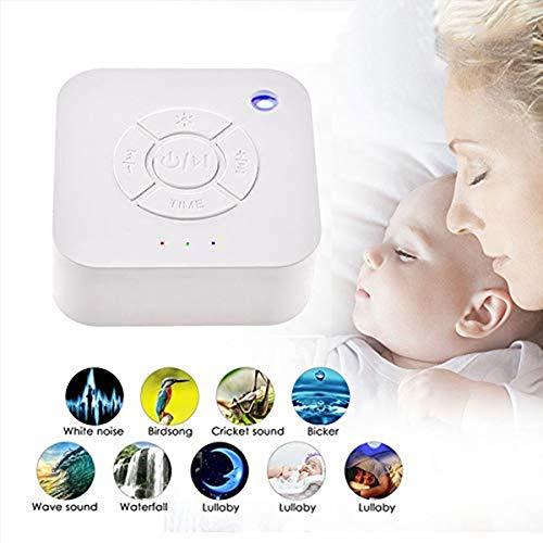 White Noise Machine, leegoal Einschlafhilfe Weißes Rausche Maschine mit 9 entspannenden Naturgeräuschen, LED-Atemlicht-Timer für Baby / Kinder / Erwachsene / Insomniac / Reisen / Zuhause / Büro