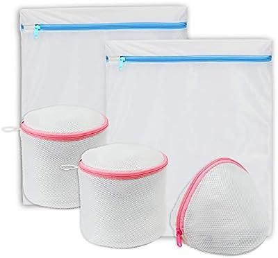 Simple Houseware 5 Pack Laundry Bra Lingerie Bags (2 Large & 3 Underwear Bags)