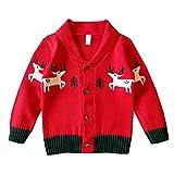 Maglioni per Bambini Boy Girl Winter Baby Sweater Christmas Children Cardigan Windbreaker Knitting Coat Red 3t