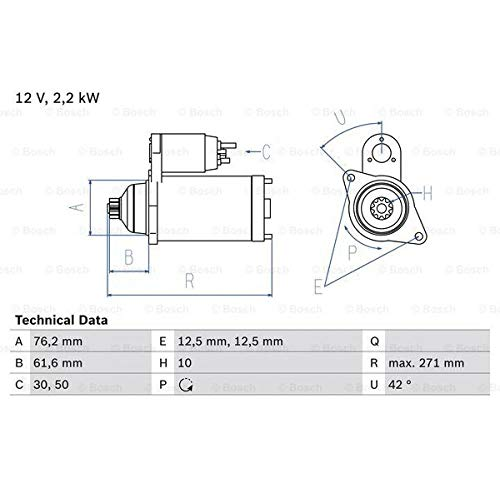 Preisvergleich Produktbild Bosch 986020270 Anlasser