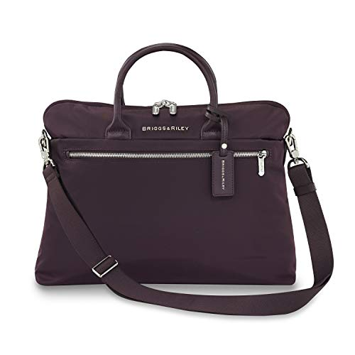 Briggs & Riley Rhapsody Slim Business Briefcase, 38 cm, 8.6 liters, Plum,...