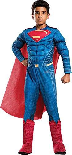 Rubie's Costume Boys Justice League Deluxe Superman Costume, Large, Multicolor