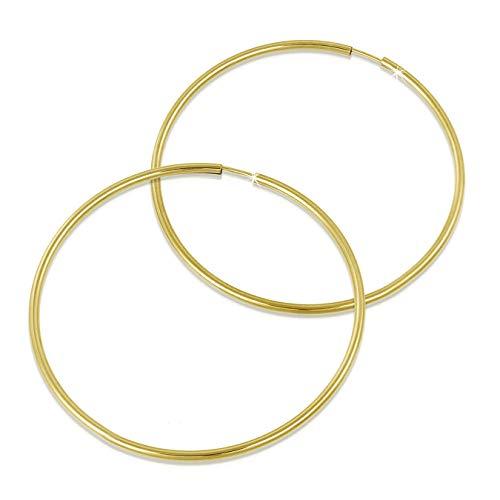 GoldDream Gold Creolen 55mm 333 Gelbgold Ohrring Simply Echtschmuck D3GDO0006Y Gold, Gelbgold Ohrschmuck für die Frau
