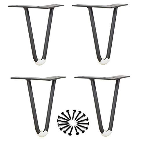 DX 4 stuks meubelpoten van metaal, geschikt voor kasten, tv-kasten, laden, nachtkastje, incl. schroeven (15 cm)