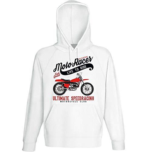 Teesandengines Bultaco pursang mk2 250cc Scrambler Classic Moto Racer Ultimate Speed Racing Sudadera con Capucha Size Medium