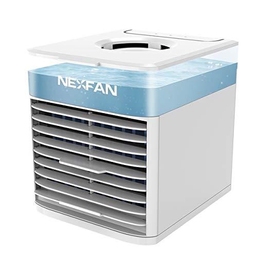 Broco de aire más fresco portátil, personal del acondicionador de aire del ventilador mini refrigerador de aire del humidificador purificador de aire más fresco del aire del ventilador de refr