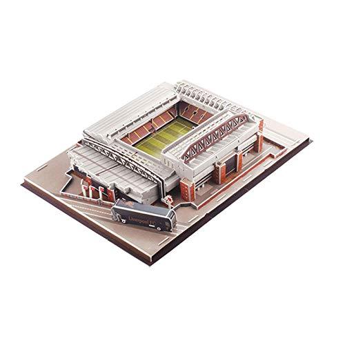 Anfield Emirates Stadium 3D Puzzle Kit De Construcción De Maquetas De Estadio Para Niños Y Adultos, Puzzles De Maquetas De Estadio De Fútbol, Puzzles De Construcción De Arquitectura