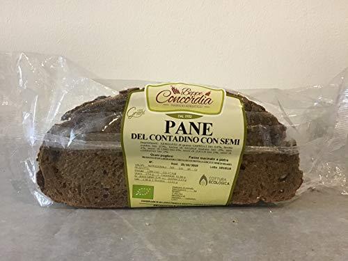 Pane biologico Contadino con semi senza lievito di birra di Grani Antichi Pugliesi macinati a pietra- 3 confezioni da 250gr
