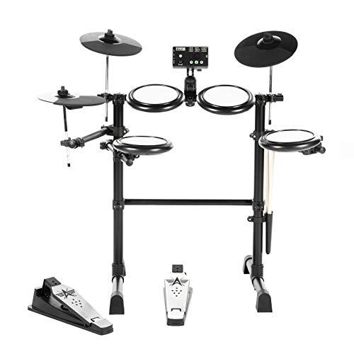 Fame DD-Lite V2 E-Drum Set (7-teiliges Elektronisches Schlagzeugset für Einsteiger - Mesh Heads, 144 Sounds, 12 Kits, Drumsticks & Drum Key)