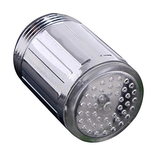 Rameng 7 Changement de Couleur LED Lumi/ère Embout Robinet Deau Lavabo Cuisine Salle de Bains B
