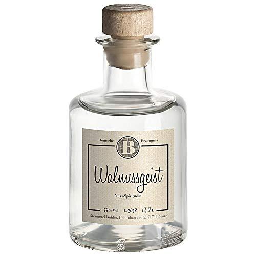 Walnussgeist, Brennerei Bühler, feines Nussaroma und vollmundiger Geschmack, mild, 38% Vol. 0,2 L