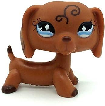 Mini Little Pet Shop LPS Toy Rare Brown Dachshund Dog Puppy Diamond Eyes Animal Girl Boy Kid Gift