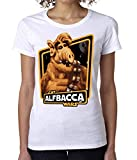 NoMoreFamous Alf Cat Alfbacca Wars Women's T-Shirt Camiseta Mujer Tshirt XX-Large