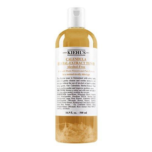 Kiehl's Calendula Kräuterextrakt Alkoholfreies Gesichtswasser - Normale Größe 16.9oz (500ml)
