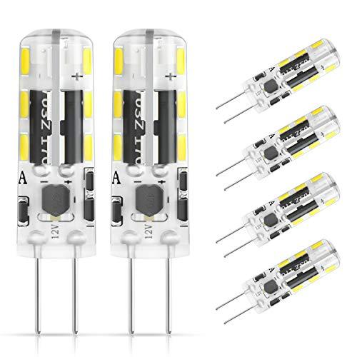 DiCUNO G4 LED Lampadina 6 × 1.2W 24 * 3014 Equivalente da 10W alogena, AC/DC 12V, Bianco freddo 6000K, 120LM, Non-dimmerabile, Risparmio energetico