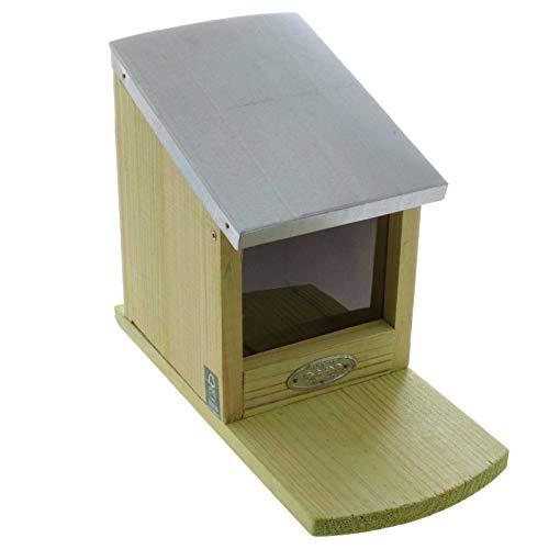SIDCO Eichhörnchen Futterhaus Futterstation Futterstelle Futterspender Holz