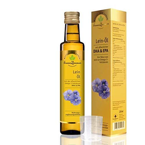Leinöl mit DHA & EPA 250ml - Nahrungsergänzung von MZL | Omega 3 Öl